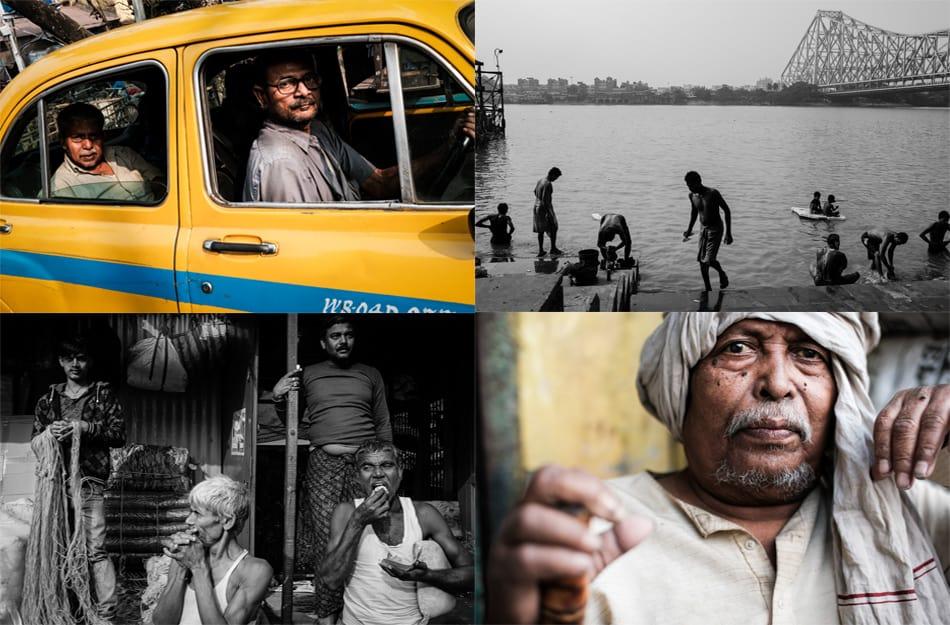 A collage of photos taken during Pics of Asia photography tour in Kolkata
