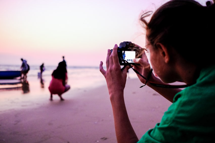 Young student from an international school on a photography workshop in Vietnam with Pics of Asia