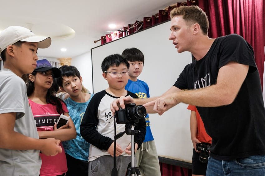 teaching photography to children in Hoi An with Pics of Asia