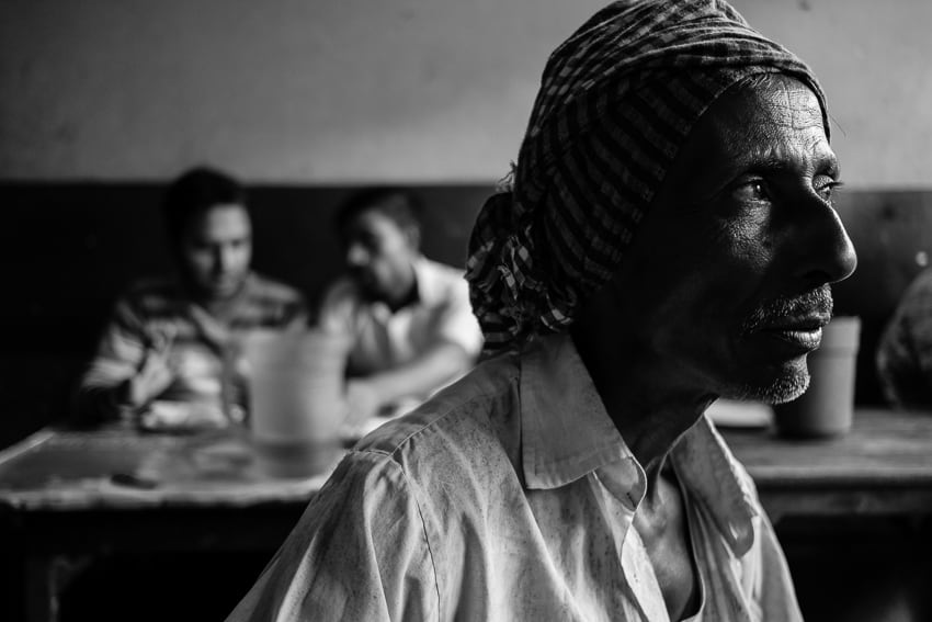 Taking photos in the tea shops of Bangladesh with Pics of Asia photography tour