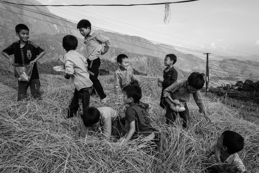 Capturing children playing in North Vietnam with Pics of Asia