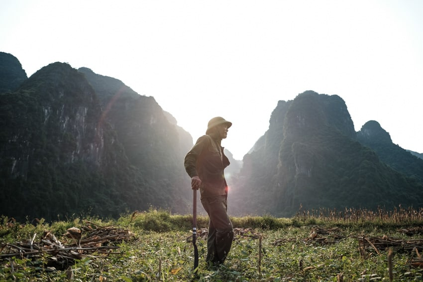 farmers are common sight when travelling to Phong Nha national park