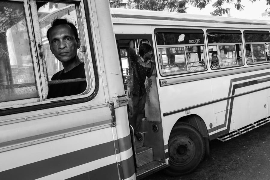 Taking photos of buses and people in Sri Lanka with Pics of Asia