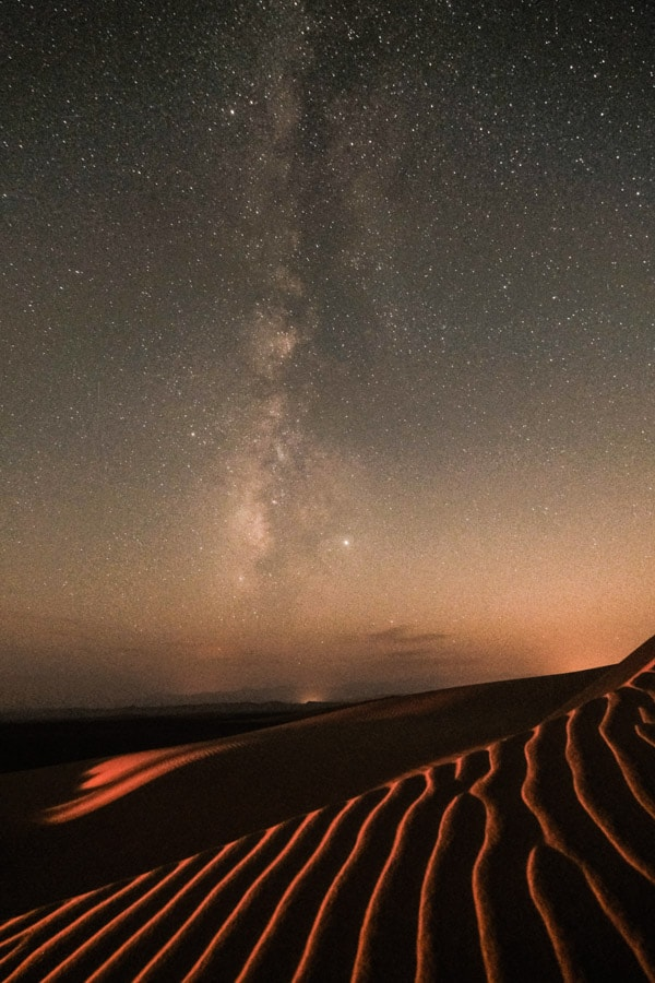 shooting the milky way in the desert of Iran with pics of Asia