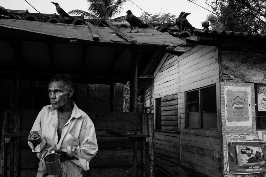 local fisherman having a tea break in Sri Lanka