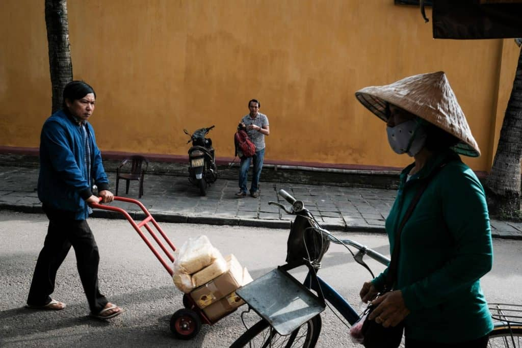 People walking in the streets of Hoi An