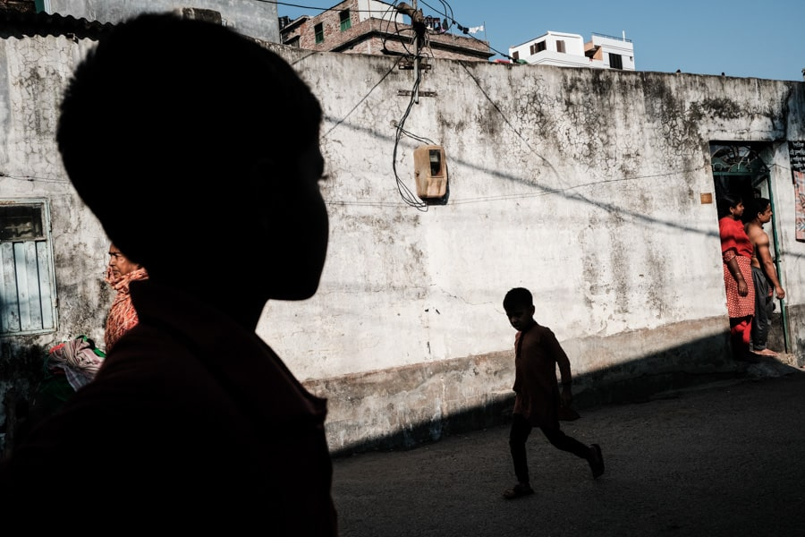 Kids playing in the streets of Bangladesh