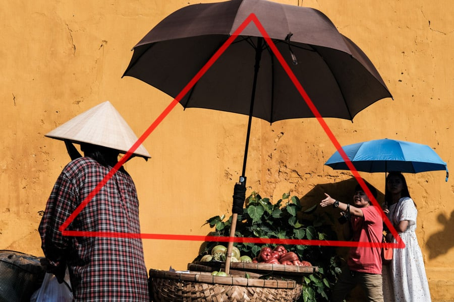 improve your compositions using triangles with Pics of Asia