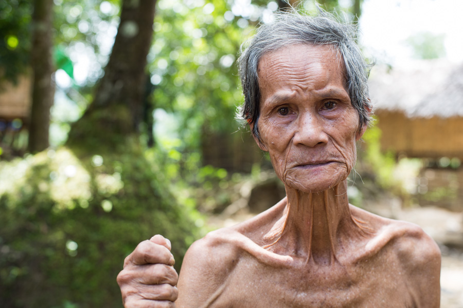 Portrait of a Burmese man from the Chin state